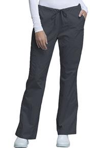 Cherokee Workwear Mid Rise Drawstring Cargo Pant Pewter (4044-PWTW)