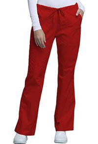 Cherokee Workwear Mid Rise Drawstring Cargo Pant Red (4044-REDW)