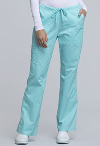 99a2644859d Cherokee Workwear Mid Rise Drawstring Cargo Pant Tahiti Sweetie 4044-TAST. WW  Core Stretch