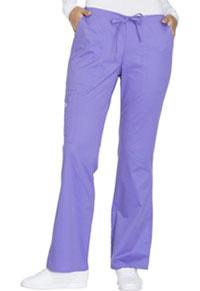 Cherokee Workwear Mid Rise Drawstring Cargo Pant Vivid Violet (4044-VDVO)