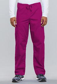 Cherokee Workwear Unisex Drawstring Cargo Pant Raspberry (4100-RASW)