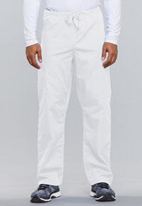 Cherokee Workwear Unisex Drawstring Cargo Pant White (4100-WHTW)
