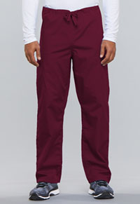 Cherokee Workwear Unisex Drawstring Cargo Pant Wine (4100-WINW)