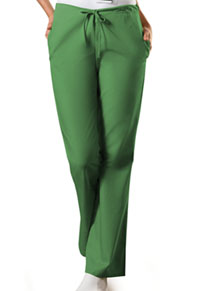 Cherokee Workwear Natural Rise Flare Leg Drawstring Pant Aloe (4101P-ALOW)
