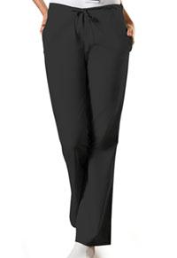 Cherokee Workwear Natural Rise Flare Leg Drawstring Pant Black (4101P-BLKW)