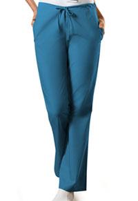 Cherokee Workwear Natural Rise Flare Leg Drawstring Pant Caribbean Blue (4101P-CARW)