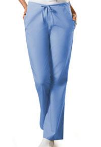 Cherokee Workwear Natural Rise Flare Leg Drawstring Pant Ciel (4101P-CIEW)