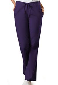 Cherokee Workwear Natural Rise Flare Leg Drawstring Pant Eggplant (4101P-EGGW)