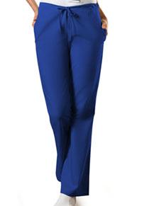 Cherokee Workwear Natural Rise Flare Leg Drawstring Pant Galaxy Blue (4101P-GABW)