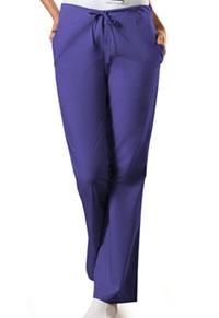 Cherokee Workwear Natural Rise Flare Leg Drawstring Pant Grape (4101P-GRPW)