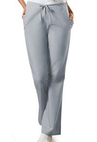 Cherokee Workwear Natural Rise Flare Leg Drawstring Pant Grey (4101P-GRYW)