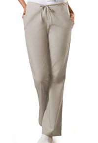 Cherokee Workwear Natural Rise Flare Leg Drawstring Pant Khaki (4101P-KAKW)