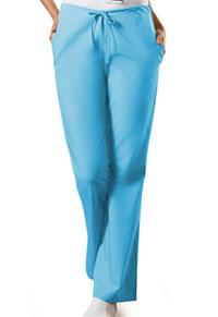 Cherokee Workwear Natural Rise Flare Leg Drawstring Pant Mali-Blu (4101P-MABW)