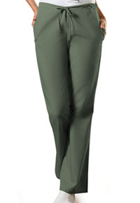 Cherokee Workwear Natural Rise Flare Leg Drawstring Pant Olive (4101P-OLVW)