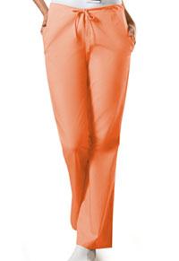 Cherokee Workwear Natural Rise Flare Leg Drawstring Pant Orange Sorbet (4101T-ORSW)