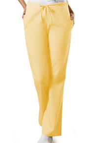 Cherokee Workwear Natural Rise Flare Leg Drawstring Pant Dandelion (4101-DANW)