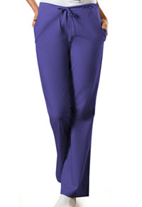 Cherokee Workwear Natural Rise Flare Leg Drawstring Pant Grape (4101-GRPW)