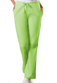 Cherokee Workwear Natural Rise Flare Leg Drawstring Pant Lime Green (4101-LMGW)