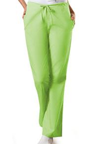 Cherokee Workwear Natural Rise Flare Leg Drawstring Pant Lime Green (4101-LMGW)