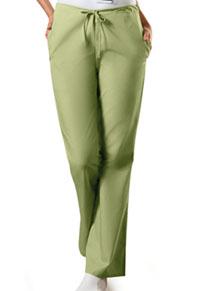 Cherokee Workwear Natural Rise Flare Leg Drawstring Pant Sage Green (4101-SAGW)