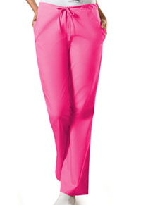 Cherokee Workwear Natural Rise Flare Leg Drawstring Pant Shocking Pink (4101-SHPW)