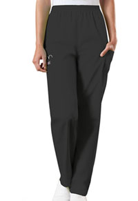 Cherokee Workwear Natural Rise Tapered Pull-On Cargo Pant Black (4200-BLKW)