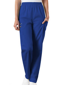Cherokee Workwear Natural Rise Tapered Pull-On Cargo Pant Galaxy Blue (4200-GABW)
