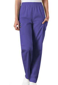 Cherokee Workwear Natural Rise Tapered LPull-On Cargo Pant Grape (4200-GRPW)