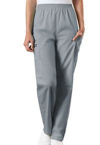 Cherokee Workwear Natural Rise Tapered Pull-On Cargo Pant Grey (4200-GRYW)