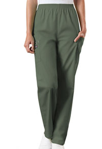 Cherokee Workwear Natural Rise Tapered Pull-On Cargo Pant Olive (4200-OLVW)