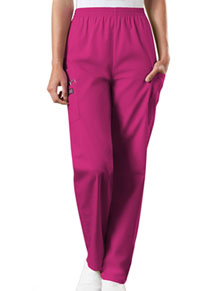 Cherokee Workwear Natural Rise Tapered LPull-On Cargo Pant Raspberry (4200-RASW)
