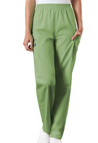 Cherokee Workwear Natural Rise Tapered Pull-On Cargo Pant Sage Green (4200-SAGW)