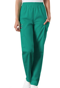 Cherokee Workwear Natural Rise Tapered LPull-On Cargo Pant Surgical Green (4200-SGRW)