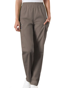 Cherokee Workwear Natural Rise Tapered LPull-On Cargo Pant Taupe (4200-TAUW)