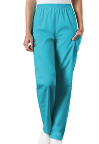 Cherokee Workwear Natural Rise Tapered Pull-On Cargo Pant Turquoise (4200-TRQW)