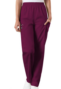 Cherokee Workwear Natural Rise Tapered Pull-On Cargo Pant Wine (4200-WINW)