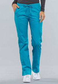 WW Core Stretch Mid Rise Straight Leg Drawstring Pant (4203P-TLBW) (4203P-TLBW)