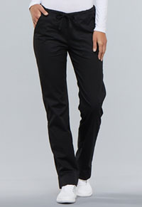 WW Core Stretch Mid Rise Slim Straight Drawstring Pant (4203-BLKW) (4203-BLKW)