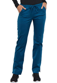 Cherokee Workwear Mid Rise Straight Leg Drawstring Pant Caribbean Blue (4203-CARW)