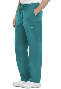 Cherokee Workwear Men's Fly Front Cargo Pant Teal Blue (4243-TLBW)