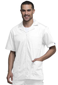 Cherokee Workwear Men's Zip Front Jacket White (4300-WHTW)