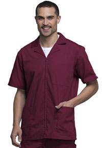 Cherokee Workwear Men's Zip Front Jacket Wine (4300-WINW)