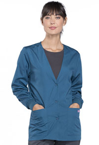 Cherokee Workwear Cardigan Warm-Up Jacket Caribbean Blue (4301-CARW)