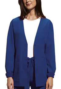 Cherokee Workwear Cardigan Warm-Up Jacket Galaxy Blue (4301-GABW)