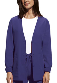 Cherokee Workwear Cardigan Warm-Up Jacket Grape (4301-GRPW)