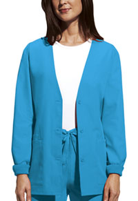 Cherokee Workwear Cardigan Warm-Up Jacket Turquoise (4301-TRQW)