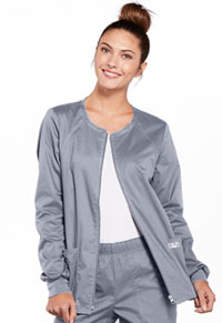 Zip Front Warm-Up Jacket (4315-GRYW)
