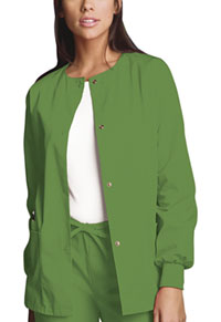 Cherokee Workwear Snap Front Warm-Up Jacket Aloe (4350-ALOW)