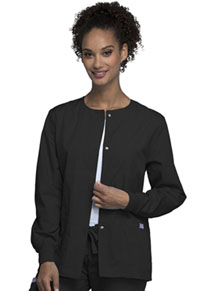 Snap Front Warm-Up Jacket (4350-BLKW)