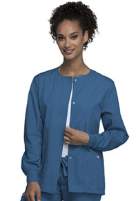 Cherokee Workwear Snap Front Warm-Up Jacket Caribbean Blue (4350-CARW)